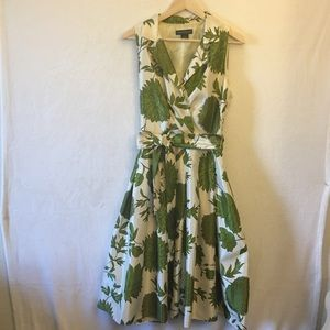 Jessica Howard Retro Floral Polyester Dress